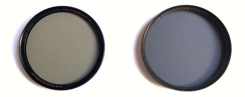 Links de HTC, rechts de 'standaard' MRC, beide van B+W.
